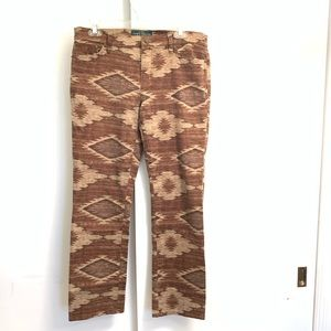 Ralph Lauren Western Boho Navajo Weave size 8